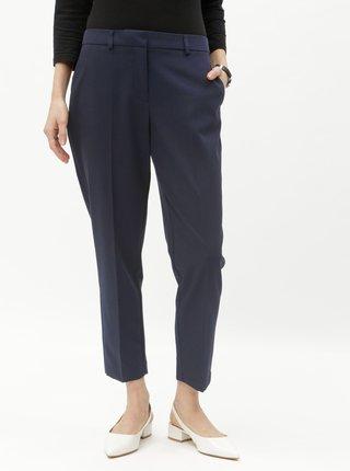 Tmavě modré zkrácené kalhoty Dorothy Perkins Petite