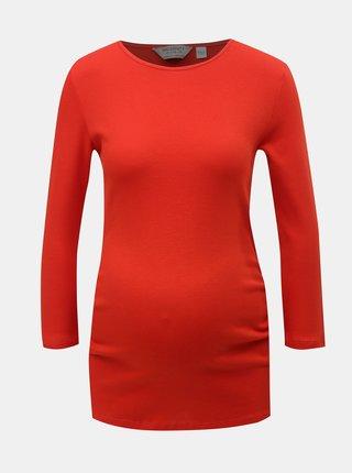 Tricou rosu cu maneci 3/4 pentru femei insarcinate Dorothy Perkins Maternity