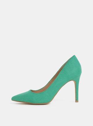 Pantofi verzi cu aspect de piele intoarsa Dorothy Perkins