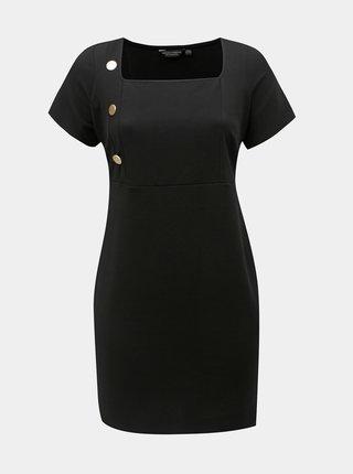 Čierne puzdrové šaty s gombíkmi Dorothy Perkins Curve