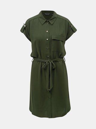 Rochie tip camasa verde inchis cu buzunar Dorothy Perkins
