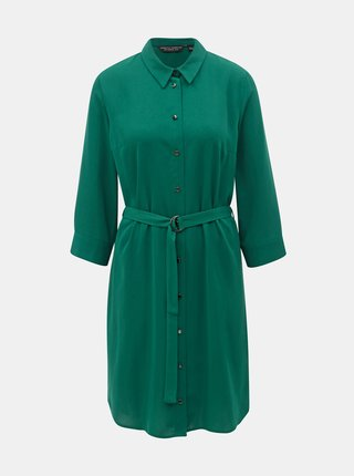 Rochie tip camasa verde inchis cu cordon Dorothy Perkins