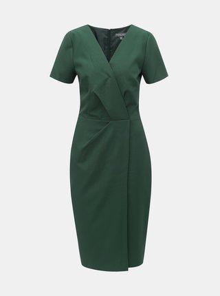 Rochie mulata verde inchis cu decolteu suprapus Dorothy Perkins Tall