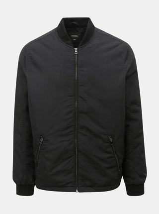 Jacheta bomber neagra de iarna Burton Menswear London