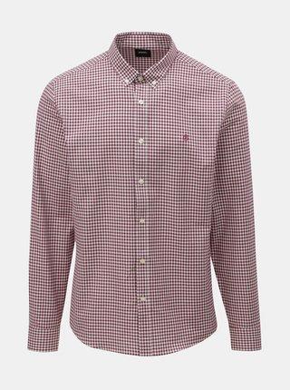 Camasa alb-bordo in carouri Burton Menswear London