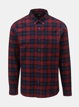 Červeno–modrá kockovaná košeľa Burton Menswear London