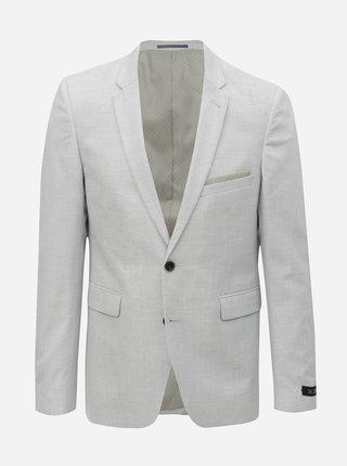 Světle šedé oblekové skinny sako Burton Menswear London
