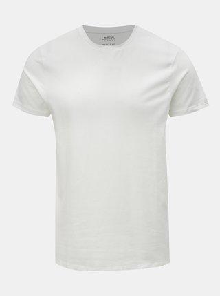 Bílé muscle fit basic tričko Burton Menswear London