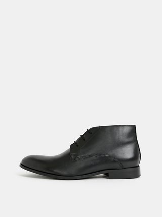 Ghete barbatesti negre din piele Burton Menswear London