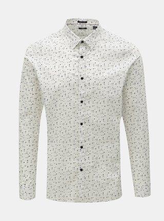 Biela bodkovaná košeľa Dstrezzed