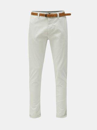 Krémové chino nohavice s opaskom Dstrezzed Presley