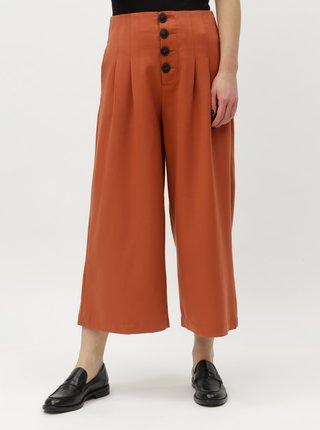 Pantaloni culottes caramizii cu talie inalta Noisy May Stine