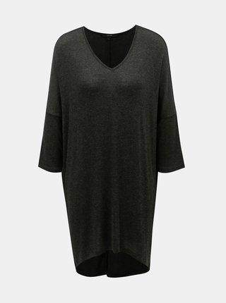 Tricou negru melanj lung VERO MODA Paya