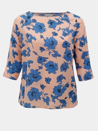 Modro-růžová květovaná halenka ONLY CARMACOMA Sympha
