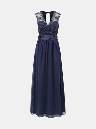 Rochie maxi albastru inchis cu detalii decorative Dorothy Perkins