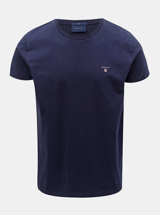 Tmavomodré pánske slim tričko GANT