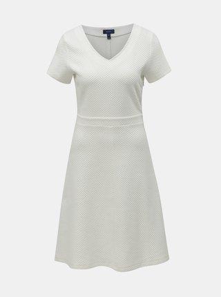 Krémové šaty s krátkym rukávom GANT