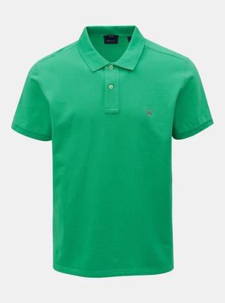 Zelené pánské regular fit polo tričko GANT