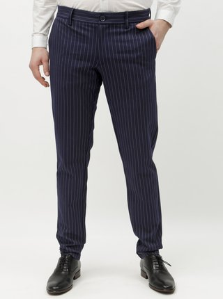 Pantaloni albastru inchis in dungi ONLY & SONS Mark