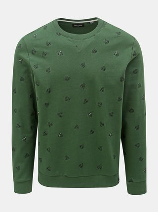 Bluza sport verde inchis cu model ONLY & SONS Opus