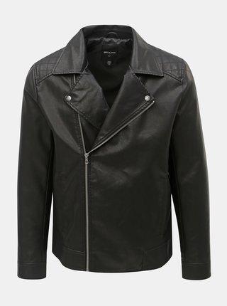 Jacheta biker neagra din piele sintetica ONLY & SONS Mike