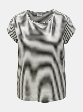 Tricou basic negru-alb in dungi VERO MODA AWARE Mava