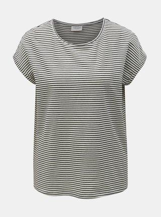 Černo-bílé pruhované basic tričko VERO MODA AWARE Mava