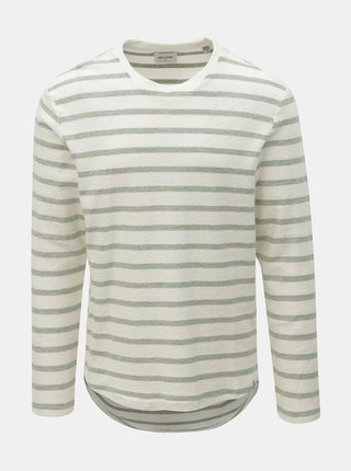 Tricou verde-crem in dungi ONLY & SONS Marvin