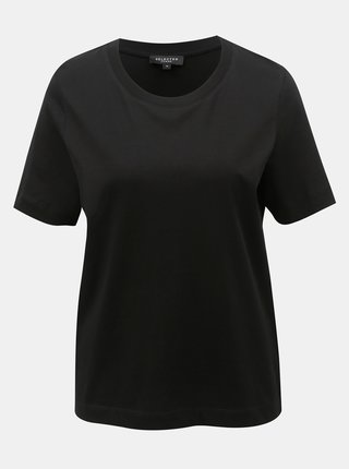 Tricou basic negru Selected Femme Standard