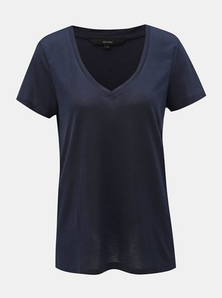Tmavě modré basic tričko VERO MODA Spicy