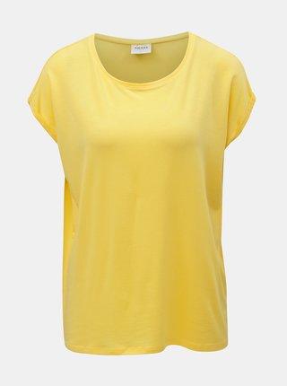 Žluté volné basic tričko VERO MODA AWARE Mava