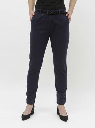 Pantaloni albastru inchis chino cu curea VERO MODA Flash