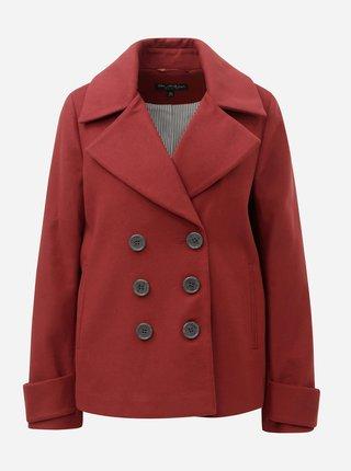 Tehlový krátky kabát Miss Selfridge