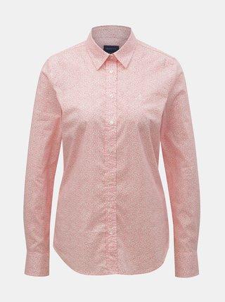 72f200e45966 Krémovo-ružová bodkovaná voľná košeľa VAVI