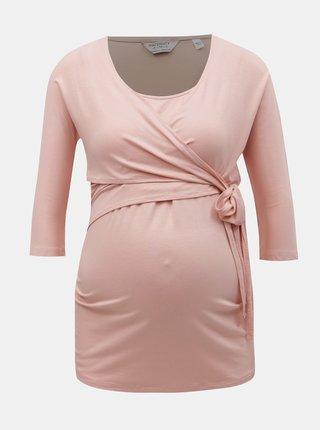 Starorůžové těhotenské/kojicí tričko Dorothy Perkins Maternity