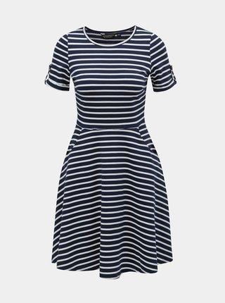 Bielo–modré pruhované šaty Dorothy Perkins