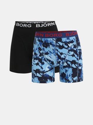 Set de 2 boxeri negru si albastru Björn Borg
