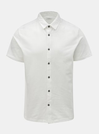 Bílá košile s krátkým rukávem Burton Menswear London