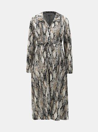Černo-béžové těhotenské košilové šaty s hadím vzorem Dorothy Perkins Maternity