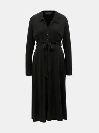 Černé těhotenské košilové šaty Dorothy Perkins Maternity