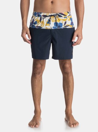 Pantaloni scurti de baie albastru inchis cu print floral Quiksilver