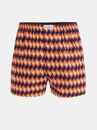Boxeri oranj-mov Happy Socks Optic Square