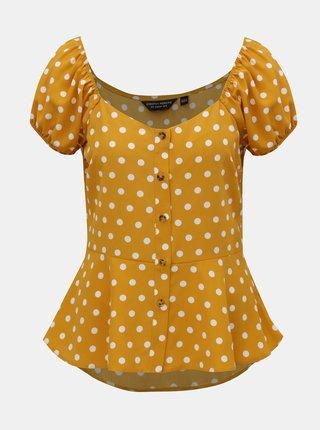 Bluza mustar cu buline Dorothy Perkins