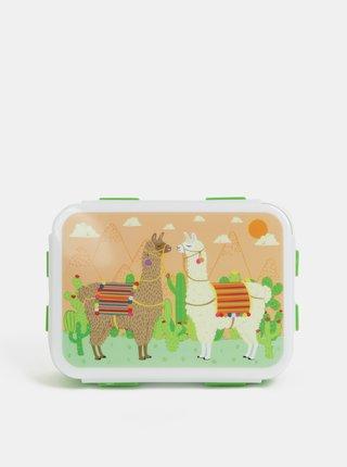 Cutie verde pentru pranz cu motiv lama Sass&Belle Lima Llama