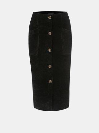 Černá manšestrová sukně TALLY WEiJL Cojimi