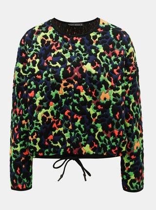 Bluza sport verde-negru cu model TALLY WEiJL Spoty