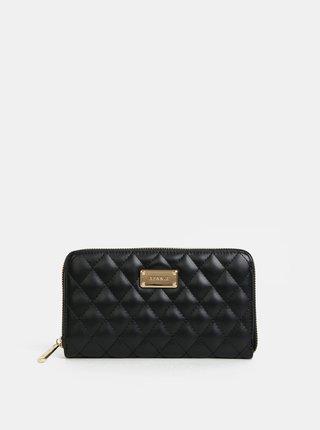 Černá prošívaná velká peněženka Bessie London