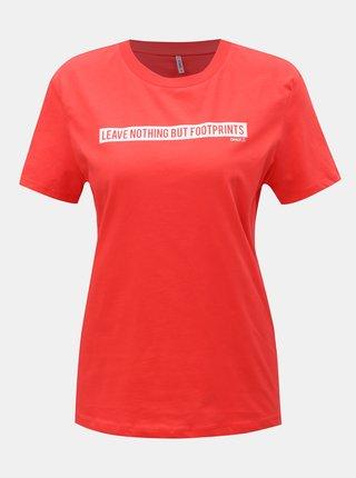 Tricou rosu cu imprimeu ONLY Sense