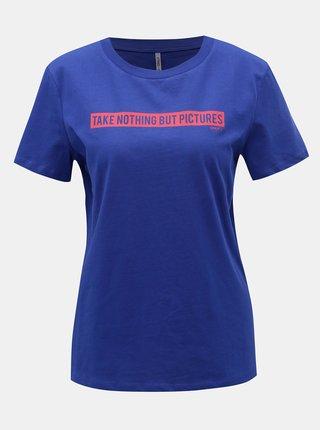 Tricou albastru cu imprimeu ONLY Sense