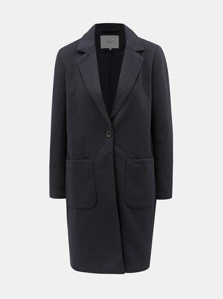 Tmavomodrý rebrovaný kabát ONLY Lastrid
